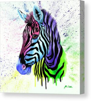 living-colour-zebra-mikey-lee-canvas-print