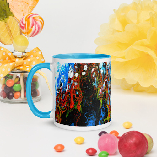 Modern wall art printed mugs